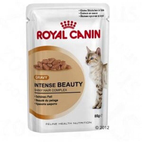 Royal Canin Intense Beauty in Gravy Pouch 12x85 g kaina ir informacija | Konservai katėms | pigu.lt