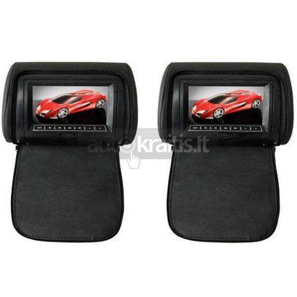 7 colių galvos atlošo monitorius su DVD grotuvu ir LED ekranu, DV7823-PAKG kaina ir informacija | Automobiliniai monitoriai | pigu.lt