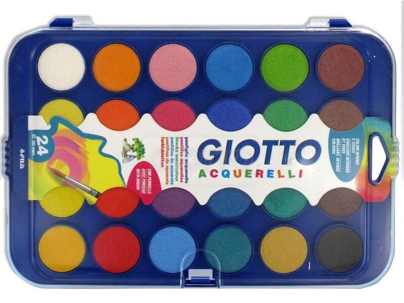 Akvarelė Giotto, 24 spalvos, 332000 kaina ir informacija | Kanceliarinės prekės | pigu.lt