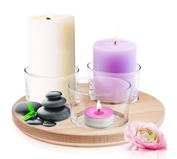 Stiklinių žvakidžių rinkinys, 4 vnt kaina ir informacija | Žvakidės, žvakės | pigu.lt