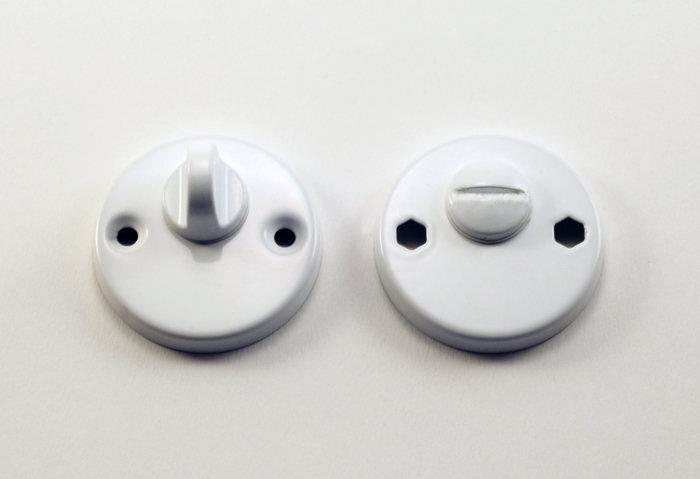 Apyrakčių komplektas WC (baltas) kaina ir informacija | Durų rankenos, spynos | pigu.lt