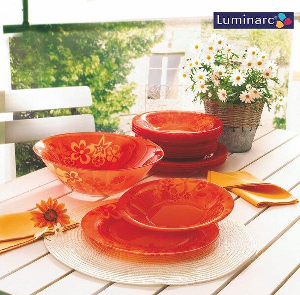 Luminarc Crazy Flowers pietų servizas, 19 dalių kaina ir informacija | Indai, lėkštės, pietų servizai | pigu.lt