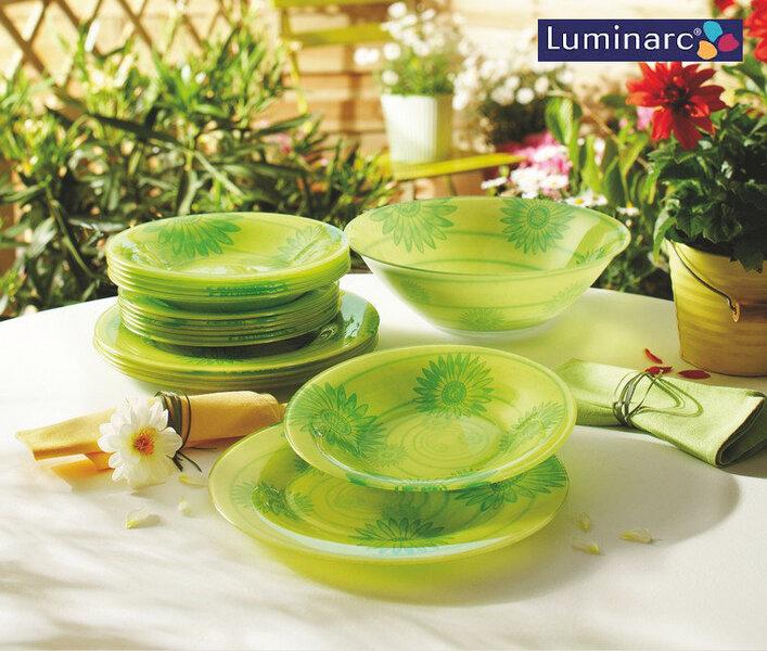 Luminarc Dahlia Twist pietų servizas, 19 dalių kaina ir informacija | Indai, lėkštės, pietų servizai | pigu.lt