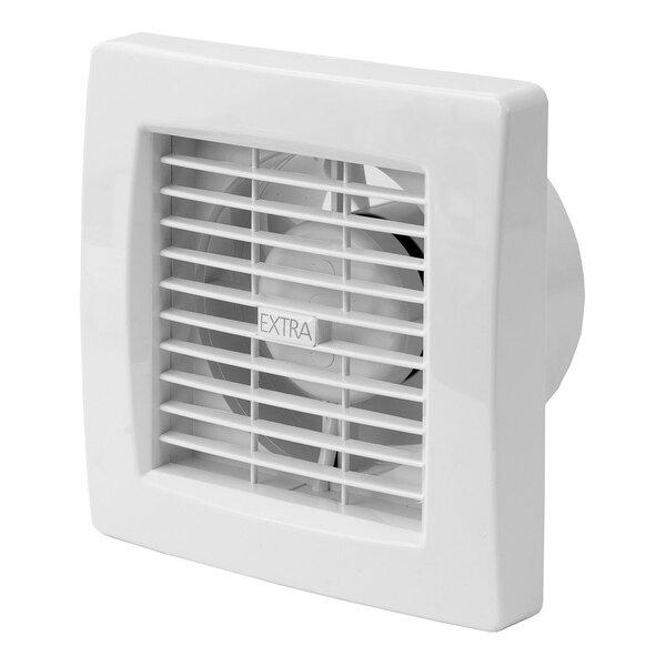 Ištraukimo ventiliatorius Europlast EXTRA d120mm su laikmačiu ir drėgmės jutikliu kaina ir informacija | Vonios ventiliatoriai | pigu.lt
