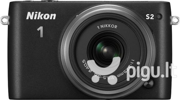 Nikon 1 S2 + 11-27,5mm, Juoda kaina ir informacija | Skaitmeniniai fotoaparatai | pigu.lt