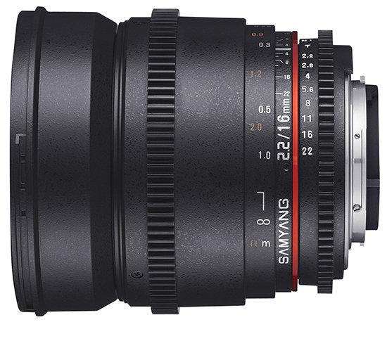 Samyang VDSLR 16mm, Juodas kaina ir informacija | Objektyvai | pigu.lt