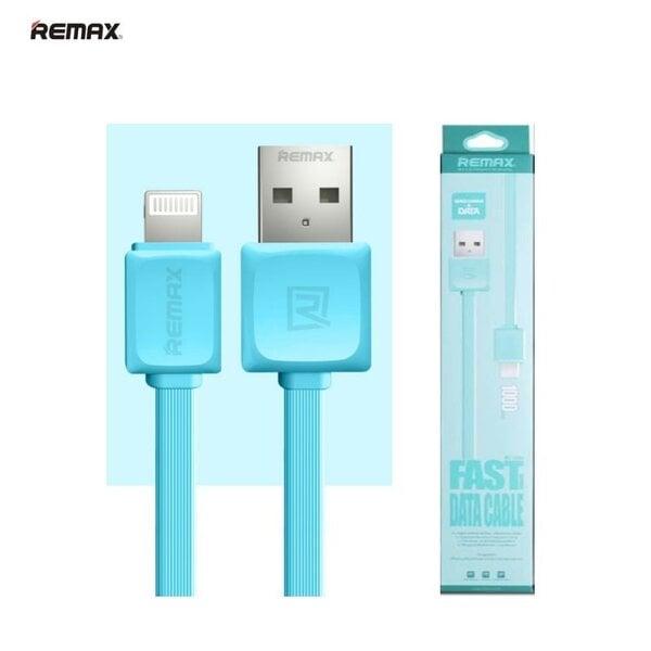 Remax Super Flat Lightning - USB 1m, Mėlynas kaina ir informacija | Laidai telefonams | pigu.lt