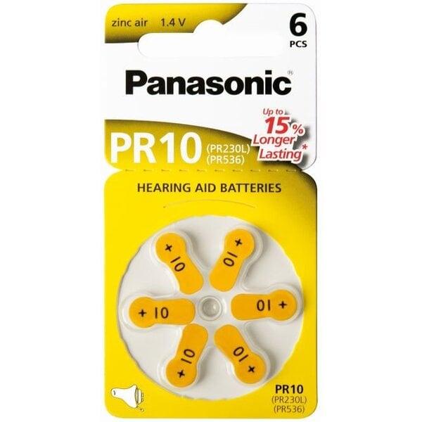 Panasonic elementai klausos aparatams Zinc-Air PR10H-LB kaina ir informacija | Elementai | pigu.lt