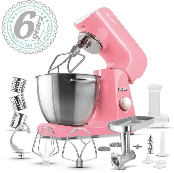 Sencor STM 44RD Pastels Virtuvinis kombainas kaina ir informacija | Virtuviniai kombainai | pigu.lt