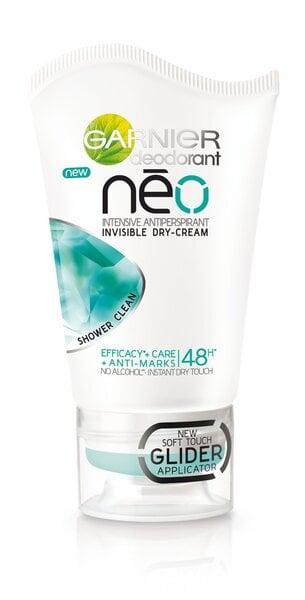 Kreminis dezodorantas Garnier Neo Shower Clean Intensive 40 ml kaina ir informacija | Dezodorantai | pigu.lt