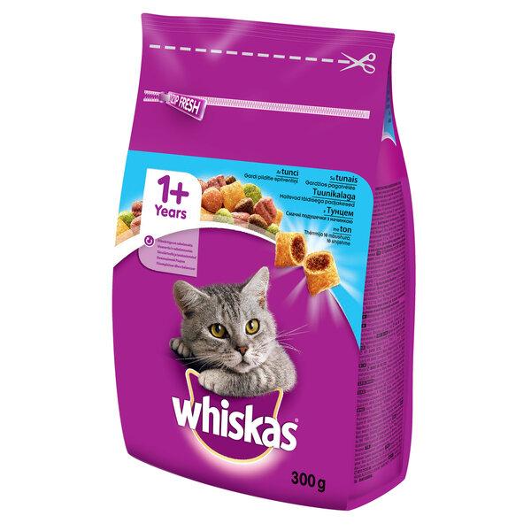 WHISKAS sausas ėdalas katėms su tunais 300 g kaina ir informacija | Sausas maistas katėms | pigu.lt