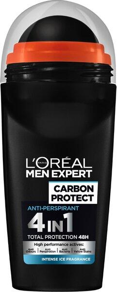 Rutulinis dezodorantas L'Oreal Paris Men Expert Carbon Protect 50 ml kaina ir informacija | Dezodorantai | pigu.lt