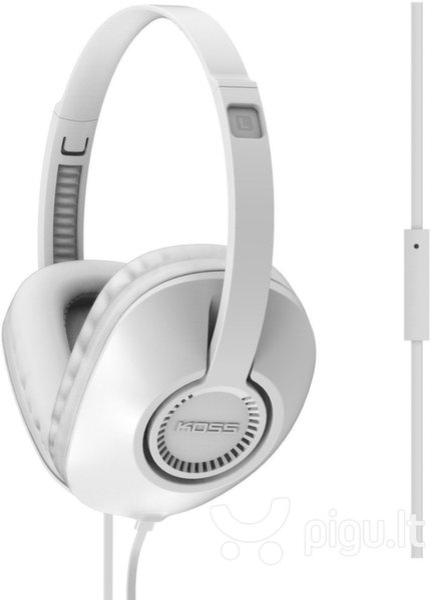 Laidinės ausinės su mikrofonu KOSS UR23iW, Baltos kaina ir informacija | Ausinės, mikrofonai | pigu.lt