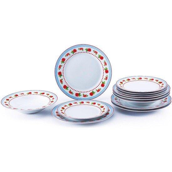 RENBERG BLINKY pietų servizas, 18 dalių kaina ir informacija | Indai, lėkštės, pietų servizai | pigu.lt