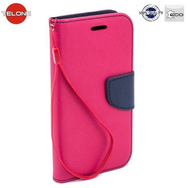Atverčiamas dėklas Telone Fancy Diary Bookstand skirtas Samsung Galaxy A3 (A310/A310F), Rožinė kaina ir informacija | Telefono dėklai | pigu.lt