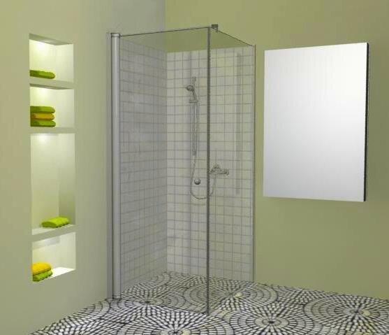 Dušo kabina AL-K1 90x90cm kaina ir informacija   Paprastosios dušo kabinos   pigu.lt