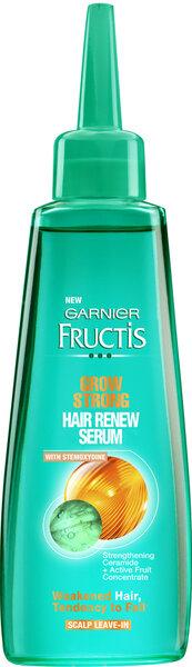 Plaukų augimą skatinantis serumas Garnier Fructis Grow Strong 84 ml kaina ir informacija | Priemonės plaukų stiprinimui | pigu.lt