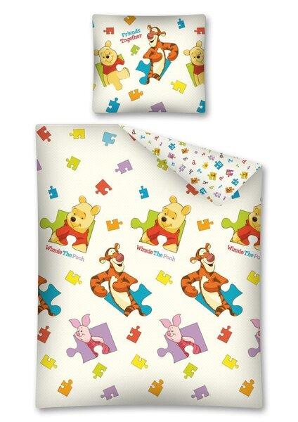Vaikiškas patalynės komplektas Winnie the Pooh, 2 dalių kaina ir informacija | Patalynė kūdikiams, vaikams | pigu.lt