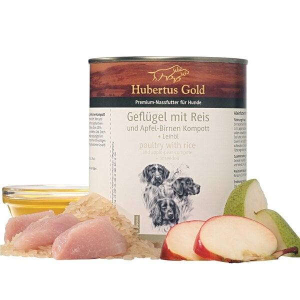 Hubertus gold paukštienos su ryžiais konservas šunims 800g kaina ir informacija | Konservai šunims | pigu.lt
