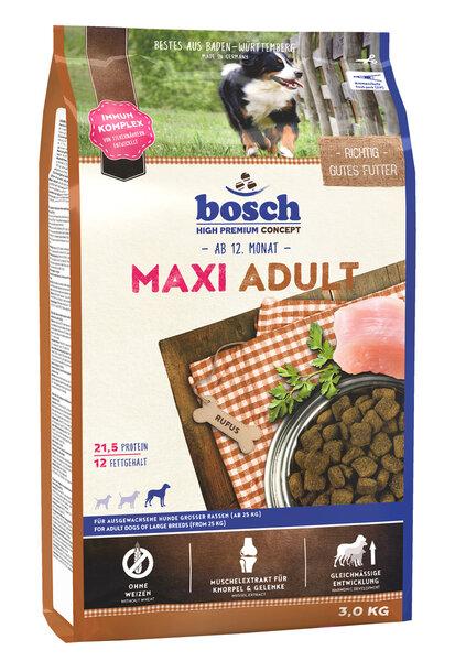 Bosch Adult Maxi 3kg kaina ir informacija | Sausas maistas šunims | pigu.lt