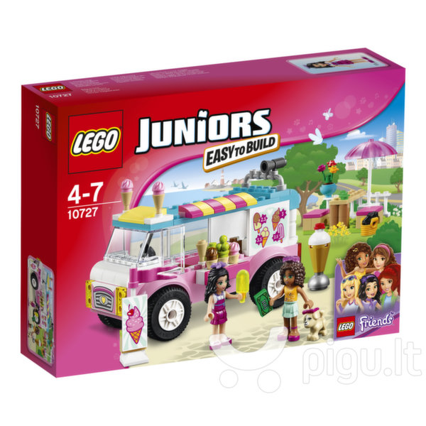 Konstruktorius LEGO™ Juniors Emma's Ice Cream Truck 10727 kaina ir informacija | Konstruktoriai ir kaladėlės | pigu.lt