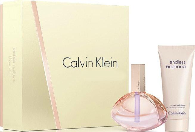 Rinkinys Calvin Klein Endless Euphoria: EDP moterims 75 ml + kūno pienelis 100 ml kaina ir informacija | Kvepalai moterims | pigu.lt