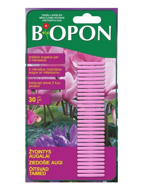 BIOPON trąšų lazdelės žydintiems augalams, 30 vnt kaina ir informacija | Birios trąšos | pigu.lt