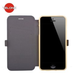 Telone Super Slim Shine Book Case with stand Samsung A500 Galaxy A5 Gold