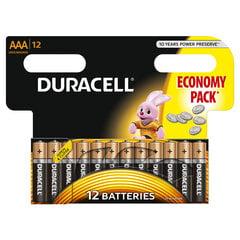 Elementai Duracell AAA LR03 12vnt. kaina ir informacija | Elementai | pigu.lt