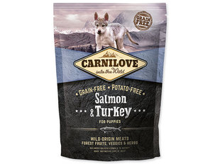 Carni Love Salmon & Turkey Puppy 1,5kg kaina ir informacija | Carni Love Salmon & Turkey Puppy 1,5kg | pigu.lt