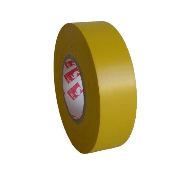 PVC izoliacinė juosta SCAPA 15/10 geltona kaina ir informacija | Mechaniniai įrankiai | pigu.lt