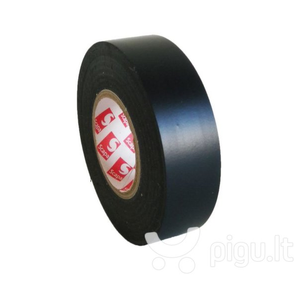 PVC izoliacinė juosta SCAPA 19/25 juoda (2701) kaina ir informacija | Mechaniniai įrankiai | pigu.lt