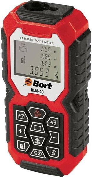 Lazerinis atstumų matuoklis BORT BLM-40 kaina ir informacija | Mechaniniai įrankiai | pigu.lt