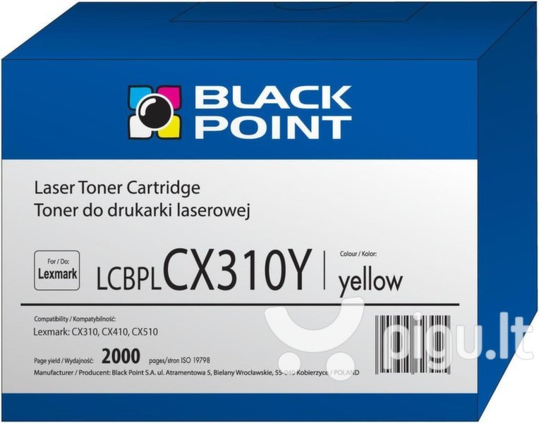 Toner Black Point LCBPLCX310Y | yellow | 2000 pp | Lexmark | 80C2SY0