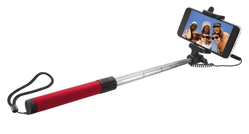 "Selfie stick Trust Urban, Raudonas (25-80 cm) kaina ir informacija | Asmenukių lazdos (""Selfie sticks"") | pigu.lt"