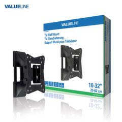 "ValueLine VLM-MFM11 Universal LCD/LED TV Wall Mount 10-32"" (30kg Max) Black"