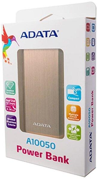 ADATA A10050 POWER BANK 10050mAh, Auksinis