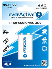 everActive Professional Ready to Use 9V 320mAh батарейка, 1 шт.