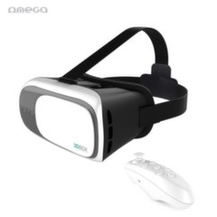 Omega OGVR3DRC Universal 4.5-6'' Smartphone Virtual Reality VR Glasses with remote control White