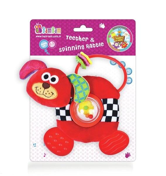 Barškutis Bam Bam šuniukas, 322029 kaina ir informacija | Žaislai kūdikiams | pigu.lt