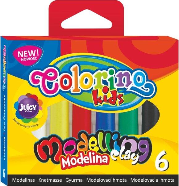 Modelinas COLORINO, 6 spalvos kaina ir informacija | Kanceliarinės prekės | pigu.lt