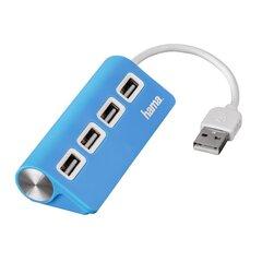 USB šakotuvas Hama USB 2.0, 4 lizdai, mėlynas