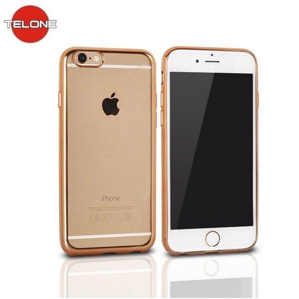 Apsauginis dėklas Telone Super Thin skirtas LG K10 K420N, Skaidrus/Auksinis kaina ir informacija | Telefono dėklai | pigu.lt
