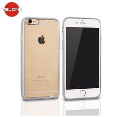 Telone Super Thin Transparent Silicone Back Case Huawei P9 with Silver color frame kaina ir informacija | Telefono dėklai | pigu.lt