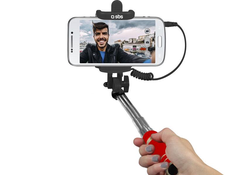 "SBS Mini 60 cm, Raudona kaina ir informacija | Asmenukių lazdos (""Selfie sticks"") | pigu.lt"
