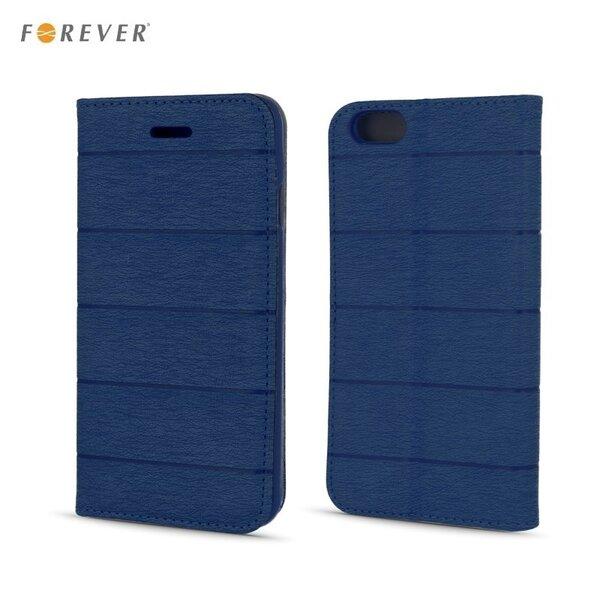 Apsauginis dėklas Forever Smart Magnetic Fix Cloth Line skirtas Huawei P8, Mėlynas kaina ir informacija | Telefono dėklai | pigu.lt