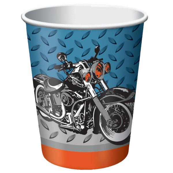 Puodeliai Motociklai 8 vnt./266ml kaina ir informacija | Dekoracijos, indai šventėms | pigu.lt