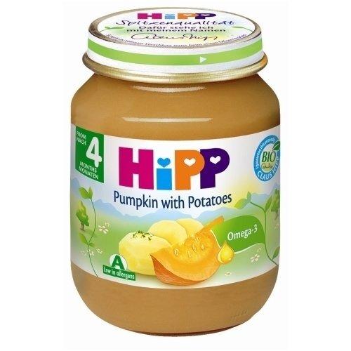 Moliūgų su bulvėmis tyrelė HIPP BIO, nuo 4 mėn., 125g kaina ir informacija | Kūdikių maistas | pigu.lt