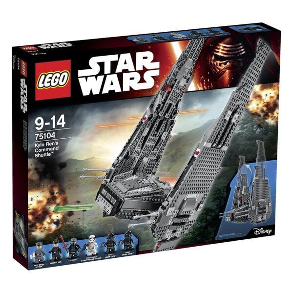 Konstruktorius LEGO® Star Wars Kylo Ren's Command Shuttle 75104 kaina ir informacija | Konstruktoriai ir kaladėlės | pigu.lt