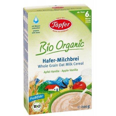 Pieniška avižų košė su obuoliais ir vanile Topfer, nuo 6 mėn., ekologiška (200 g) kaina ir informacija | Kūdikių maistas | pigu.lt
